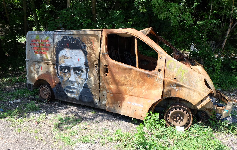 Jef Aerosol, artist street art |Joe Strummer |The Clash |Fort d'Aubervilliers | Seine Saint-Denis 93 |©sandrine cohen