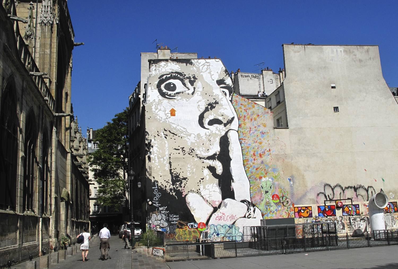 Jef Aerosol, artist street art |Fresque murale |Paris Saint-Merri |©sandrine cohen