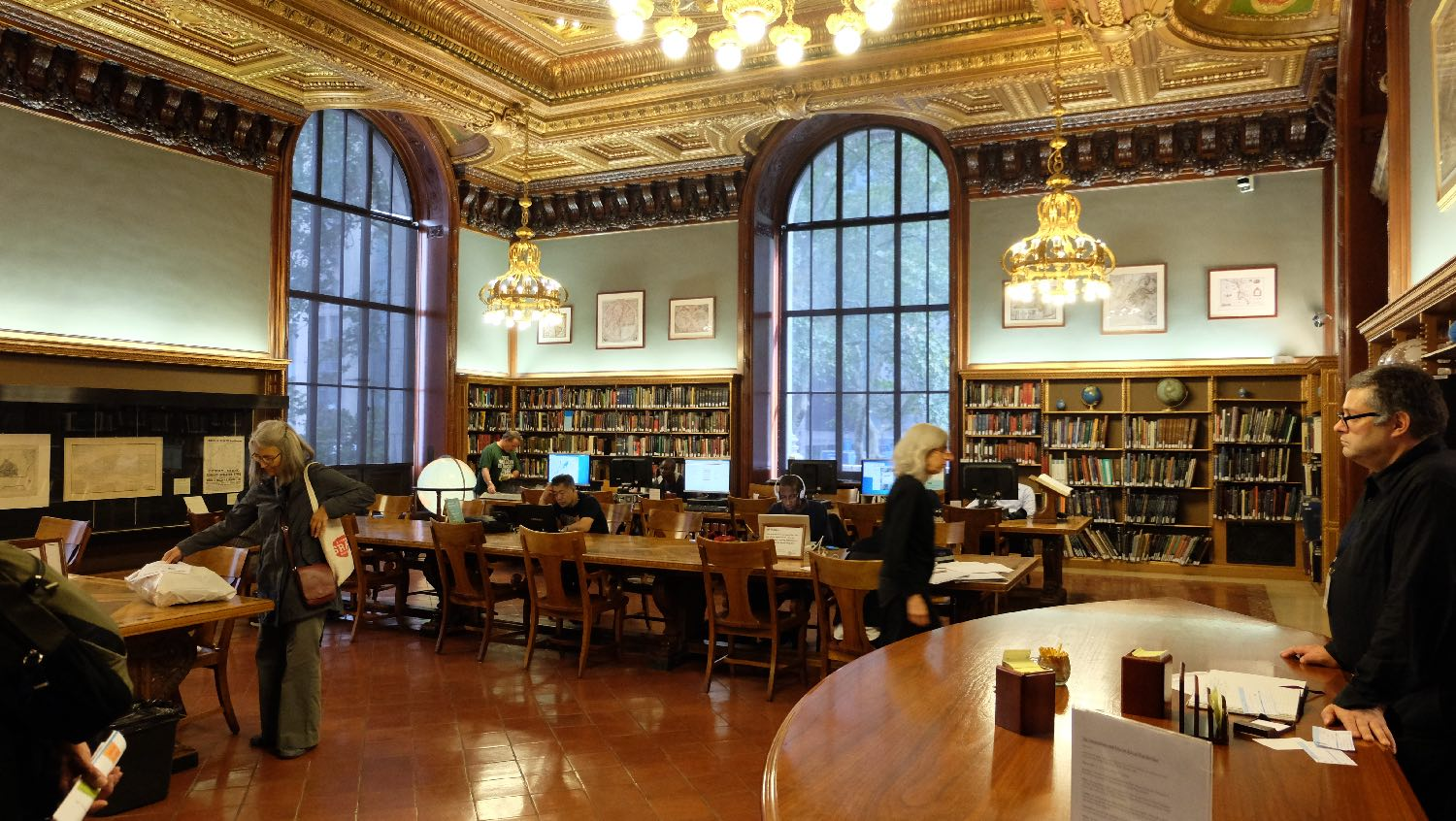 The New York Public Library | Doors |Reading room | 19 th century architecture | photo sandrine cohen