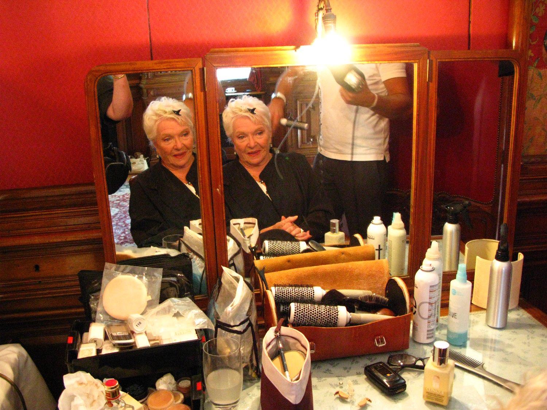 Line Renaud | maquillage | Hotel Raphael | Paris 2008 | Les Fugueuses avec Muriel Robin | Photo sandrine cohen