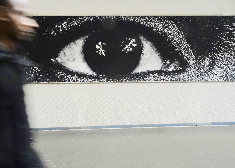 JR artist | RATP | la RATP invite JR |Metro Paris | Station La Chapelle | Photographic collage | ©sandrine cohen