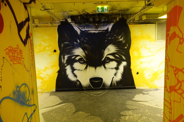 Chien loup   Street art   Cité Universitaire de Paris   photo sandrine cohen