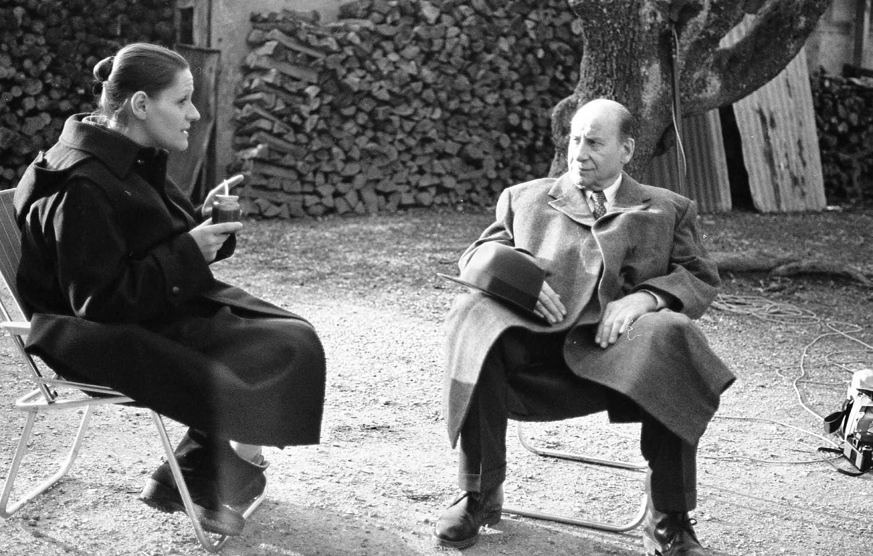 Zouc et Pierre Dux | Tournage Mr Abel | Jacques Doillon | Geneve 1983 | Photo sandrine cohen