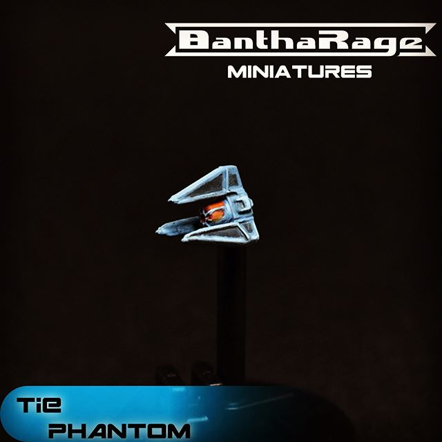 As promised. More to come as I move on to the TIE Bomber.  #starwars #starwarsarmada #tiephantom #ffg #miniatures #fantasyflightgames #empire