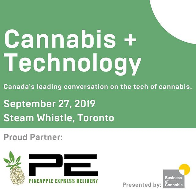 We are proud to be partners with @businessofcannabis for this event ! Come meet our team Sept 27th @SteamWhistle in Toronto #samedaydelivery #cannabis #innovation #technology 