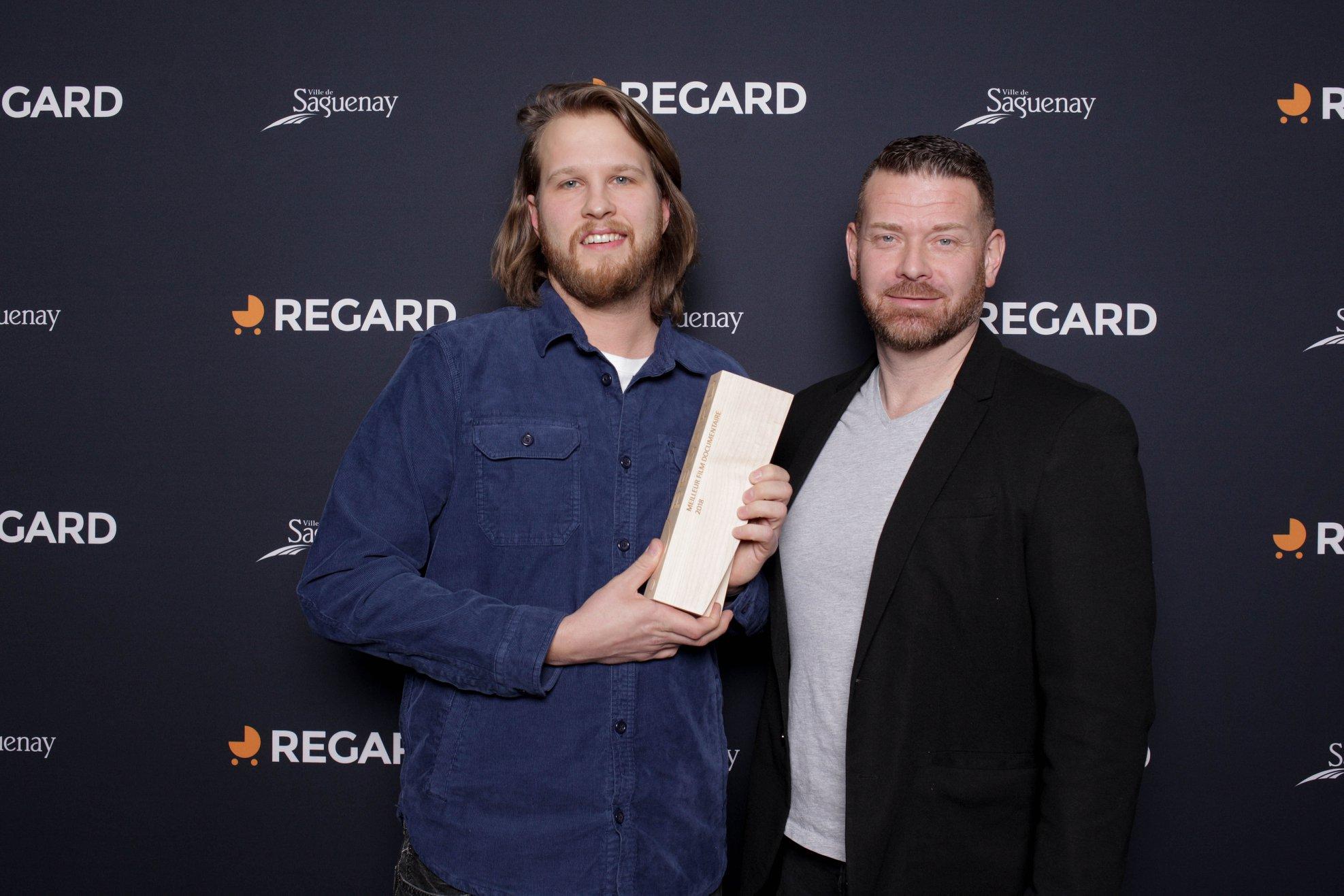 """Justin Stoneham (links) gewinnt mit """"Rewind Forward"""" unter Anderem auch den Hauptpreis am Saguenay International Short Film Festival in Kanada."""