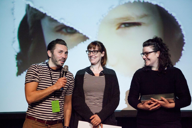 Nikola Ilić, Corina Schwingruber Ilić und Franziska Sonder gewinnen den «Golden Funnel Award» mit ihrem Projekt DIDA anlässlich von EastDocPlatform 2016