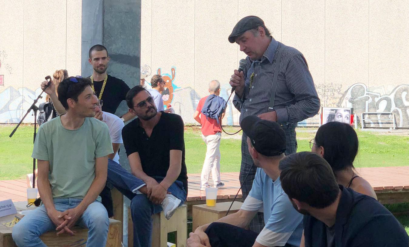 Q&A mit Lasse Linder und seinem Protagonisten.