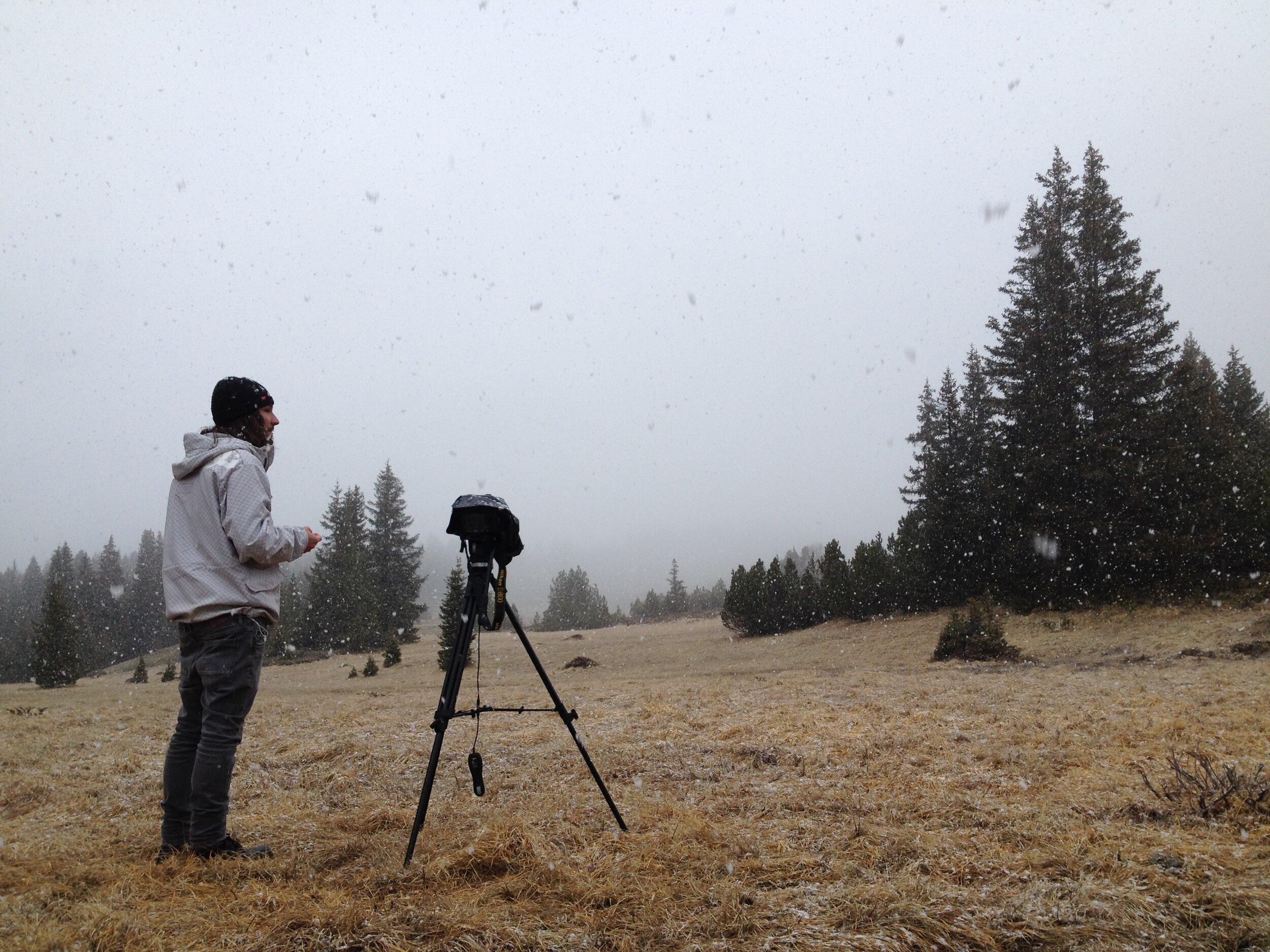 Andreas Muggli beim Dreh seines Films «Hamama & Caluna»
