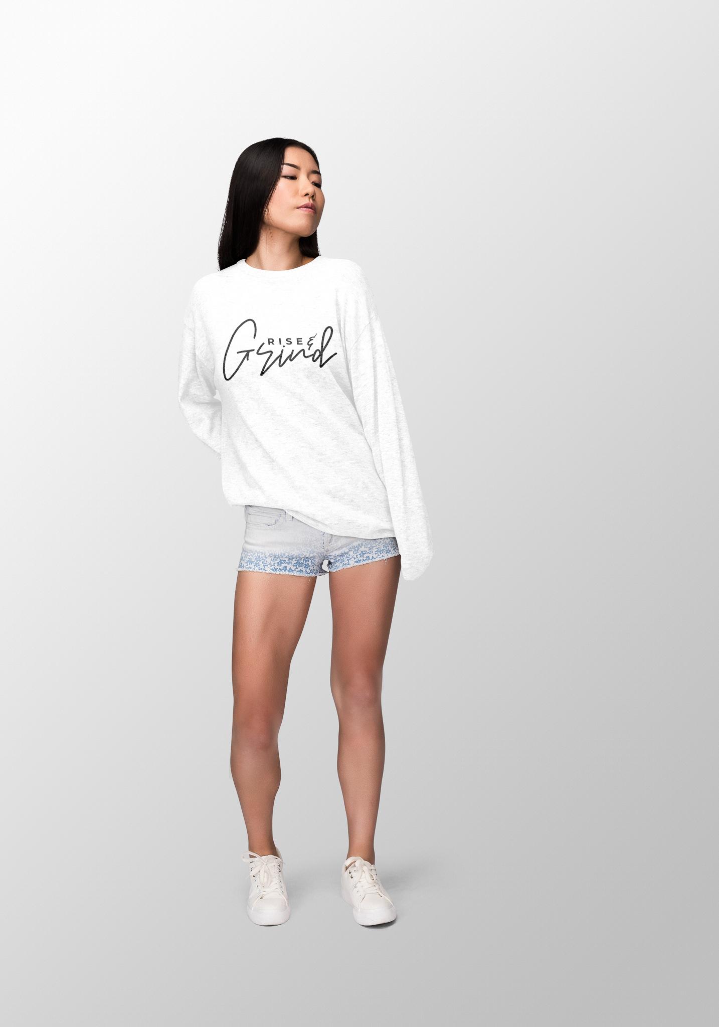 """Rise N Grind"" – White"