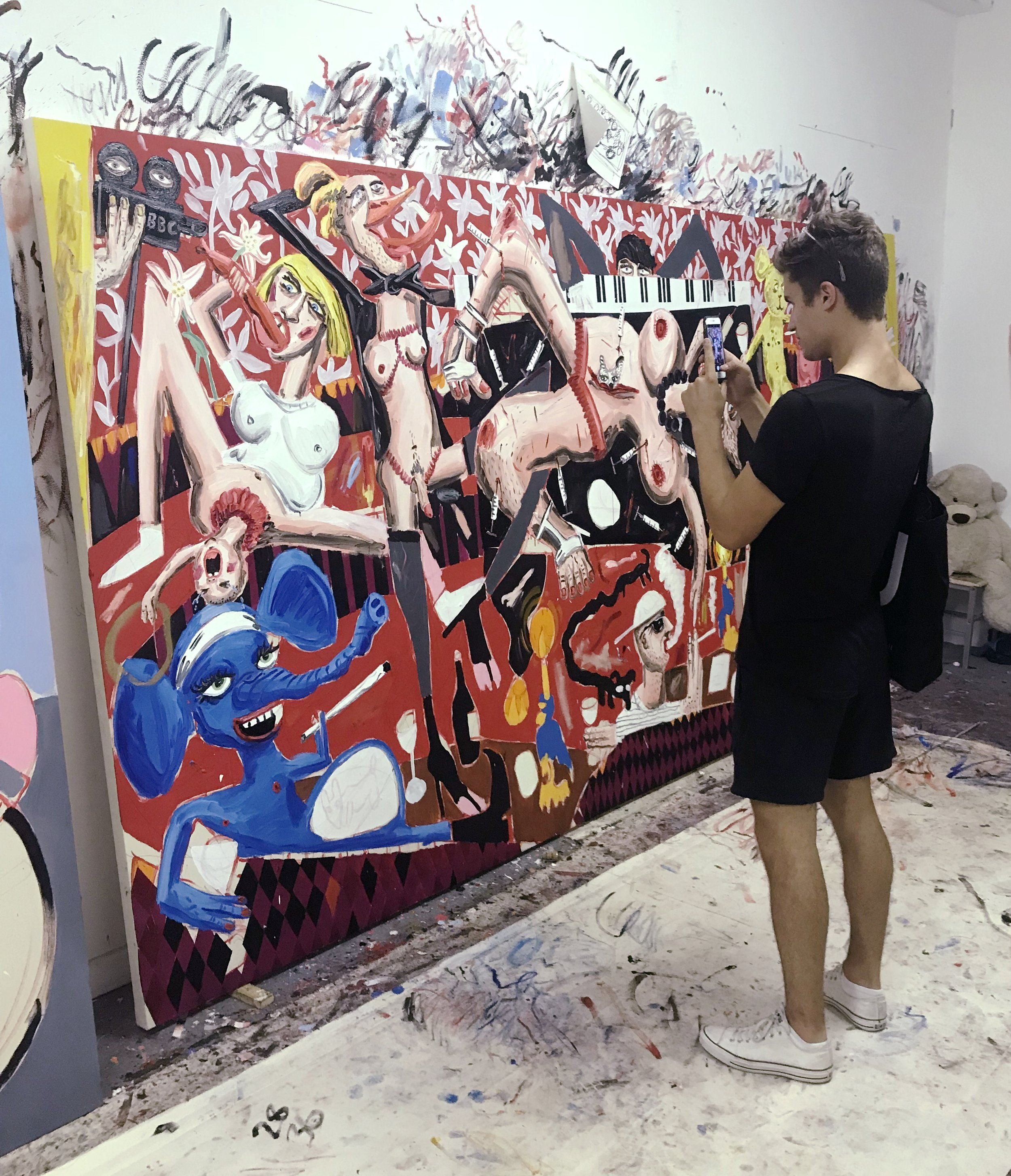 Studio visit with London based painter Dale Lewis