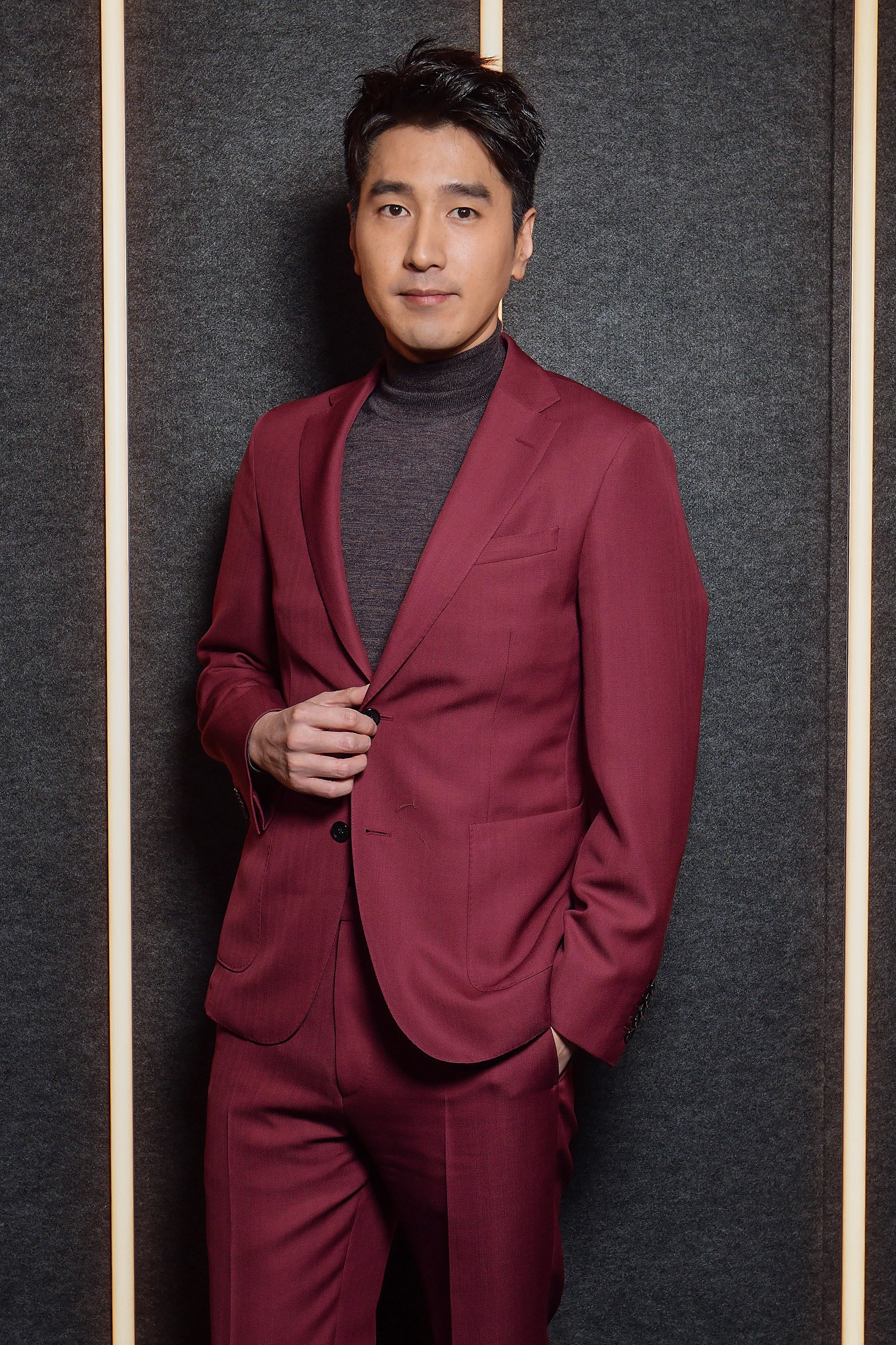 Mark Chao backstage at the BOSS Fall/Winter 2019 show at Basketball City during New York Fashion Week on Wednesday, February 13, in New York City. Photography, Courtesy of BOSS.