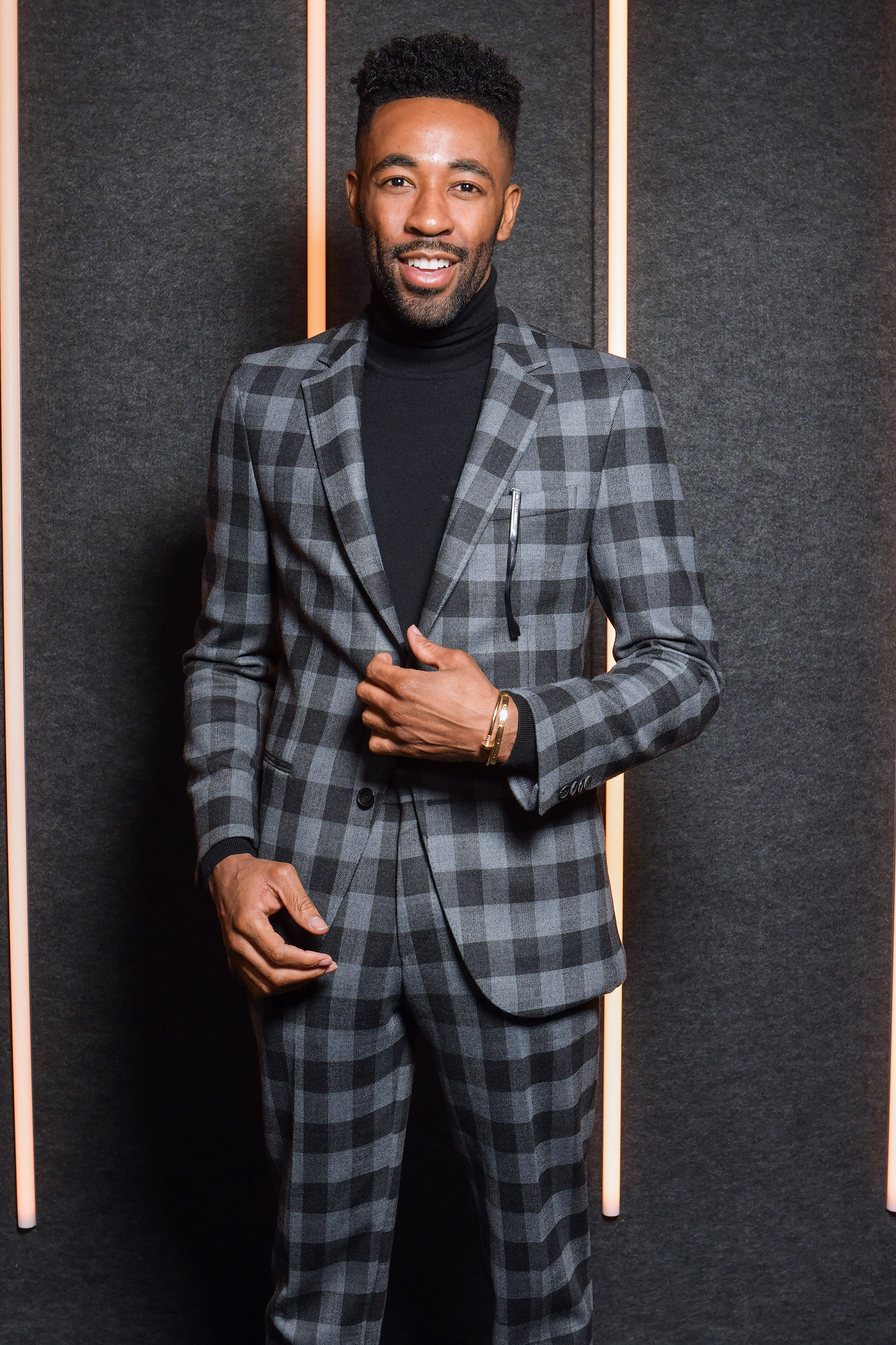 Ryan Clark backstage at the BOSS Fall/Winter 2019 show at Basketball City during New York Fashion Week on Wednesday, February 13, in New York City. Photography, Courtesy of BOSS.