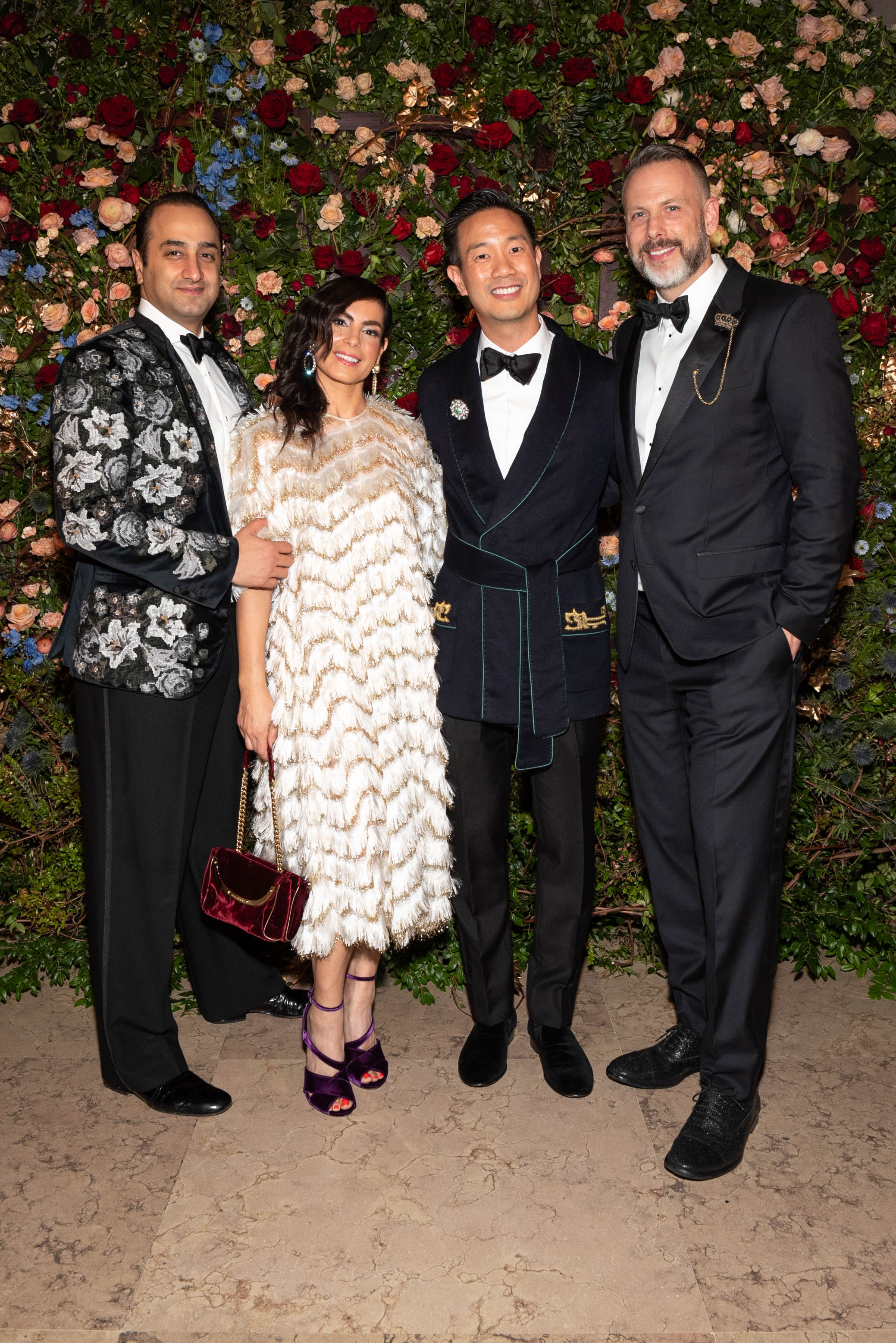 Daniel Ezra, Lizzie Asher, Trustee Dr. Tai-Heng Cheng, and Dan Rothmann attend The Frick Collection's 20th Annual Young Fellows Ball at 1 East 70th Street on Thursday, March 21st, 2019. Photography, Courtesy of The Frick Collection.