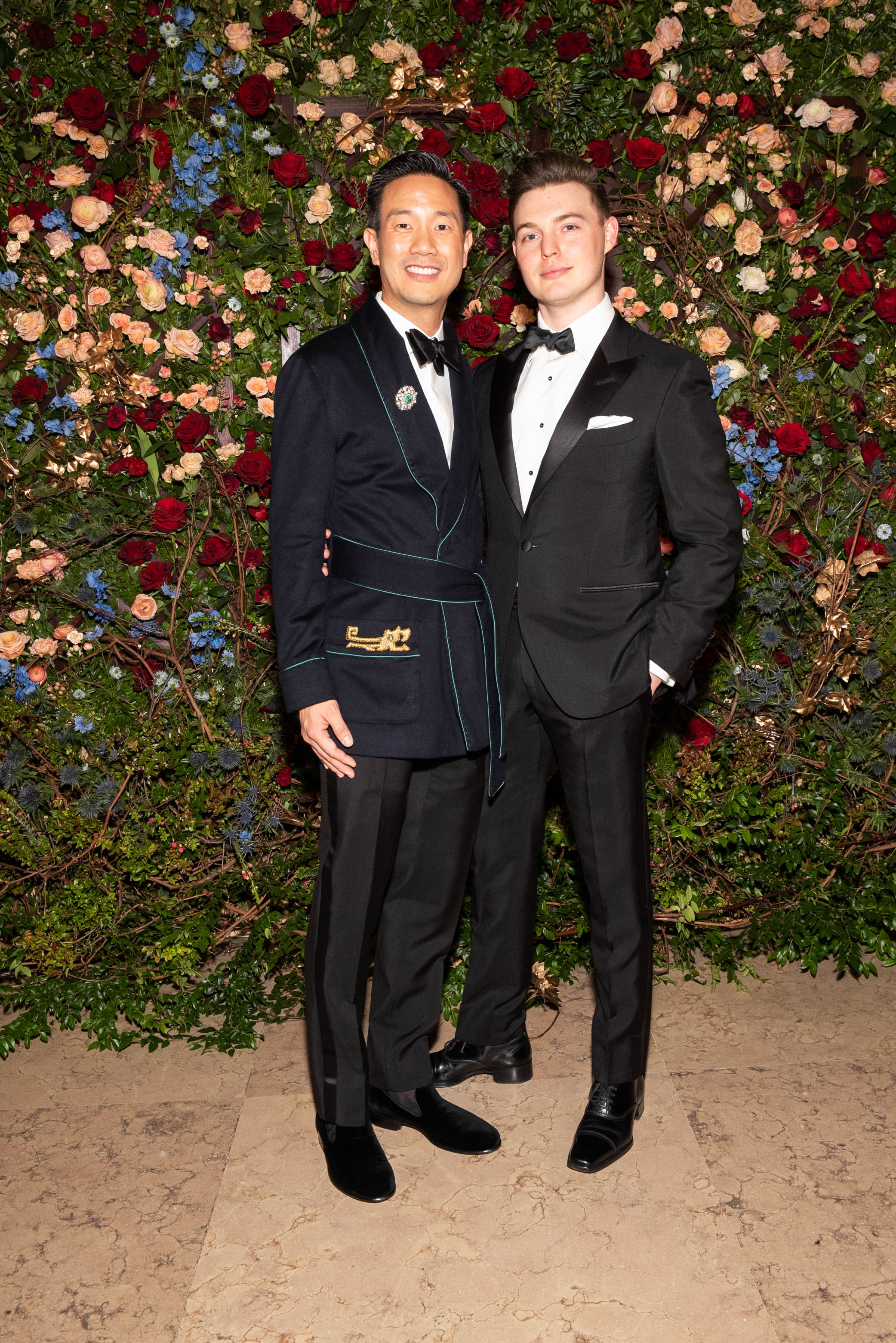 Dr. Tai-Heng Cheng and Cole Harrell attend The Frick Collection's 20th Annual Young Fellows Ball at 1 East 70th Street on Thursday, March 21st, 2019. Photography, Courtesy of The Frick Collection.