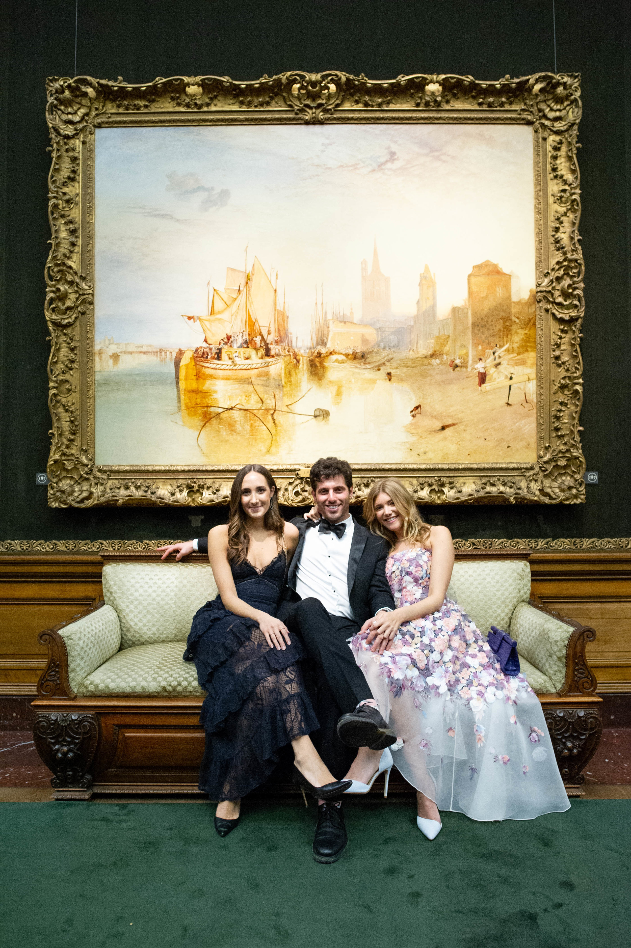 Carolyn Floersheimer, Brian Bochner, and Katie Sands attend The Frick Collection's 20th Annual Young Fellows Ball at 1 East 70th Street on Thursday, March 21st, 2019. Photography, Courtesy of The Frick Collection.