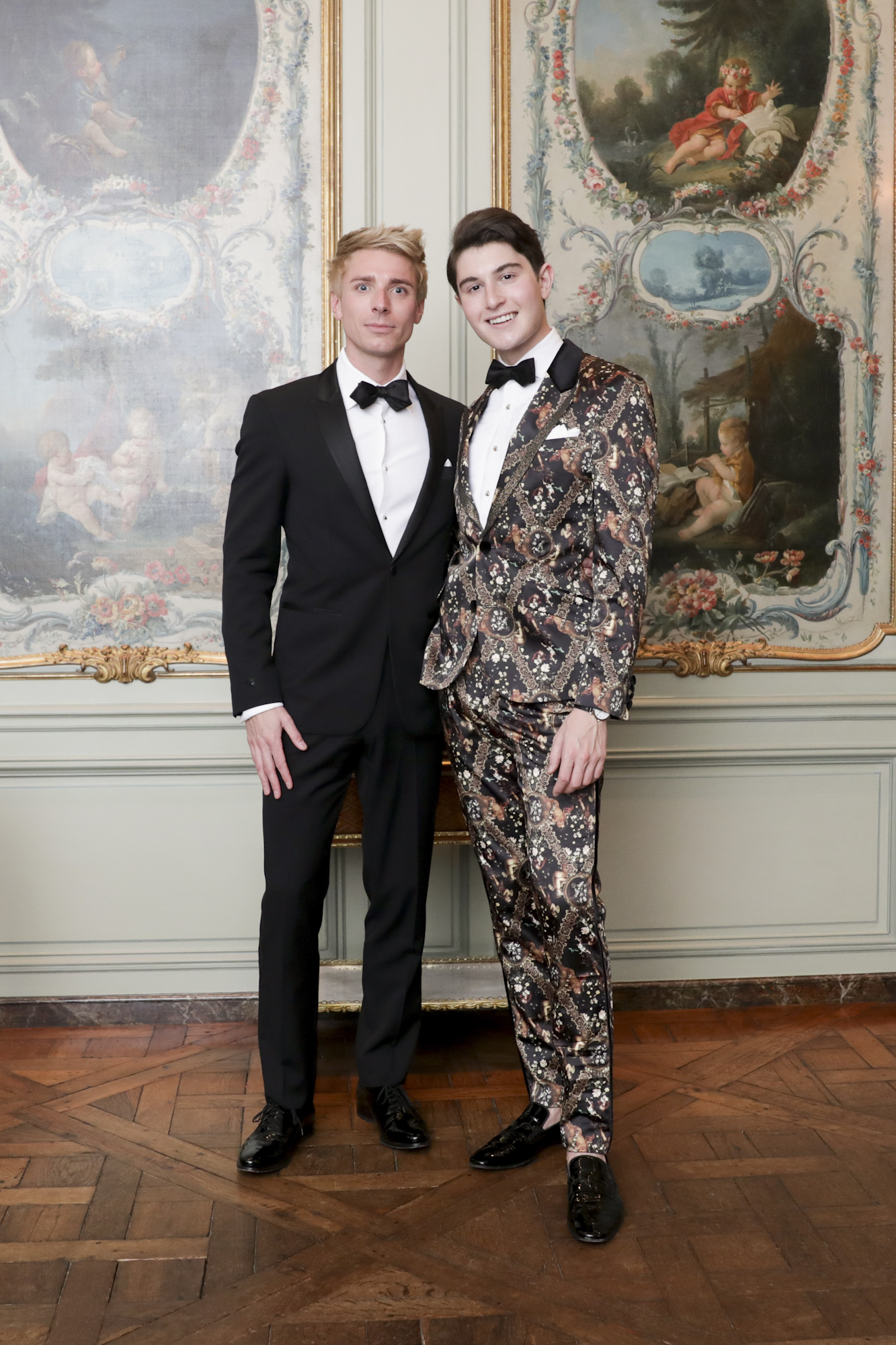 Brian Drost and Larry Milstein attend The Frick Collection's 20th Annual Young Fellows Ball at 1 East 70th Street on Thursday, March 21st, 2019. Photography, Courtesy of The Frick Collection.