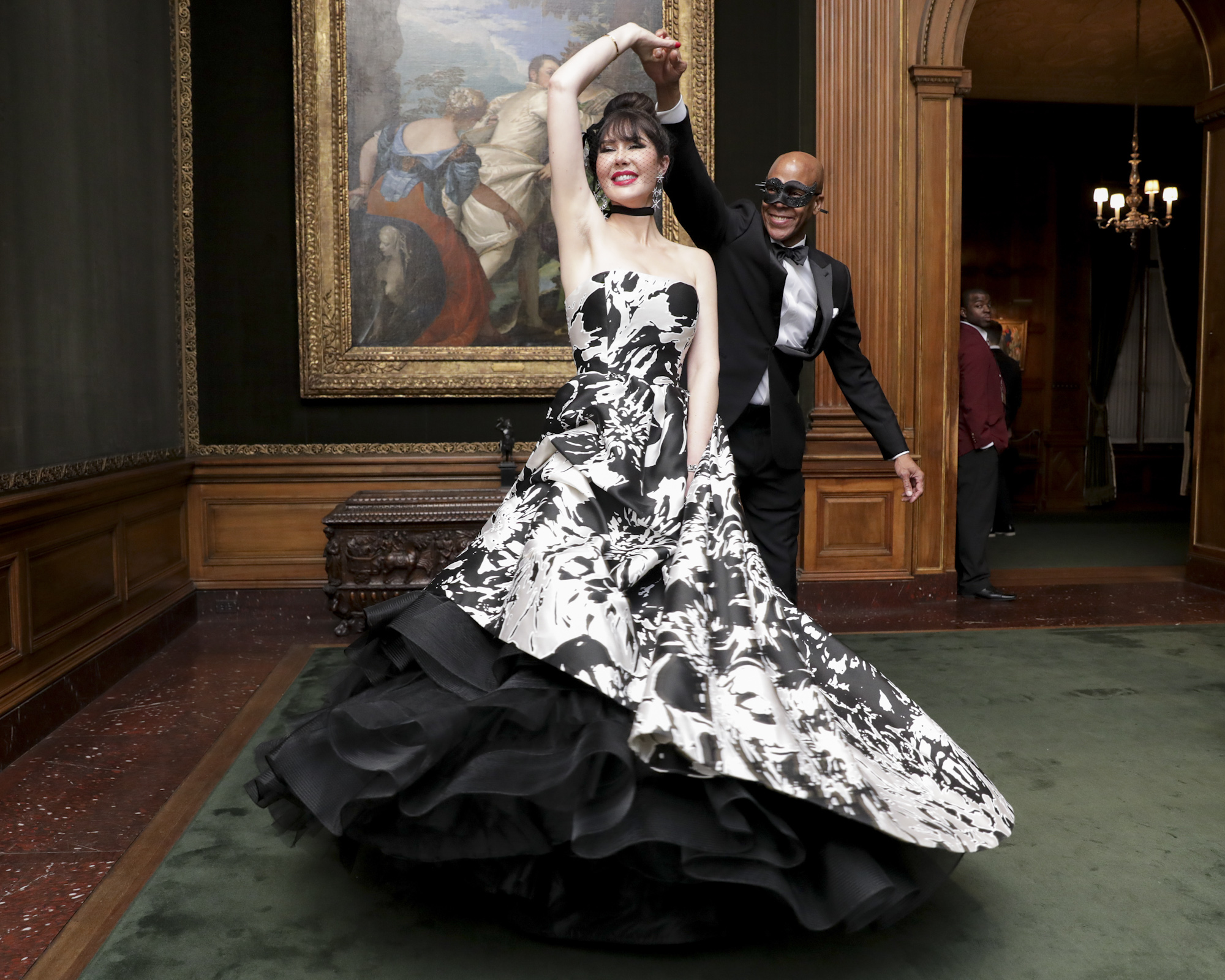 Rebecca Vanyo and Desmond Cadogan attend The Frick Collection's 20th Annual Young Fellows Ball at 1 East 70th Street on Thursday, March 21st, 2019. Photography, Courtesy of The Frick Collection.
