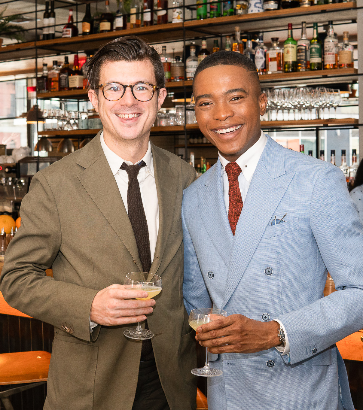 Timothy Jeffreys and Igee Okafor attend the BOND OFFICIAL x InStitchu Brunch at Harold's on Saturday, March 23rd, 2019. Photography by, Inexora Media.