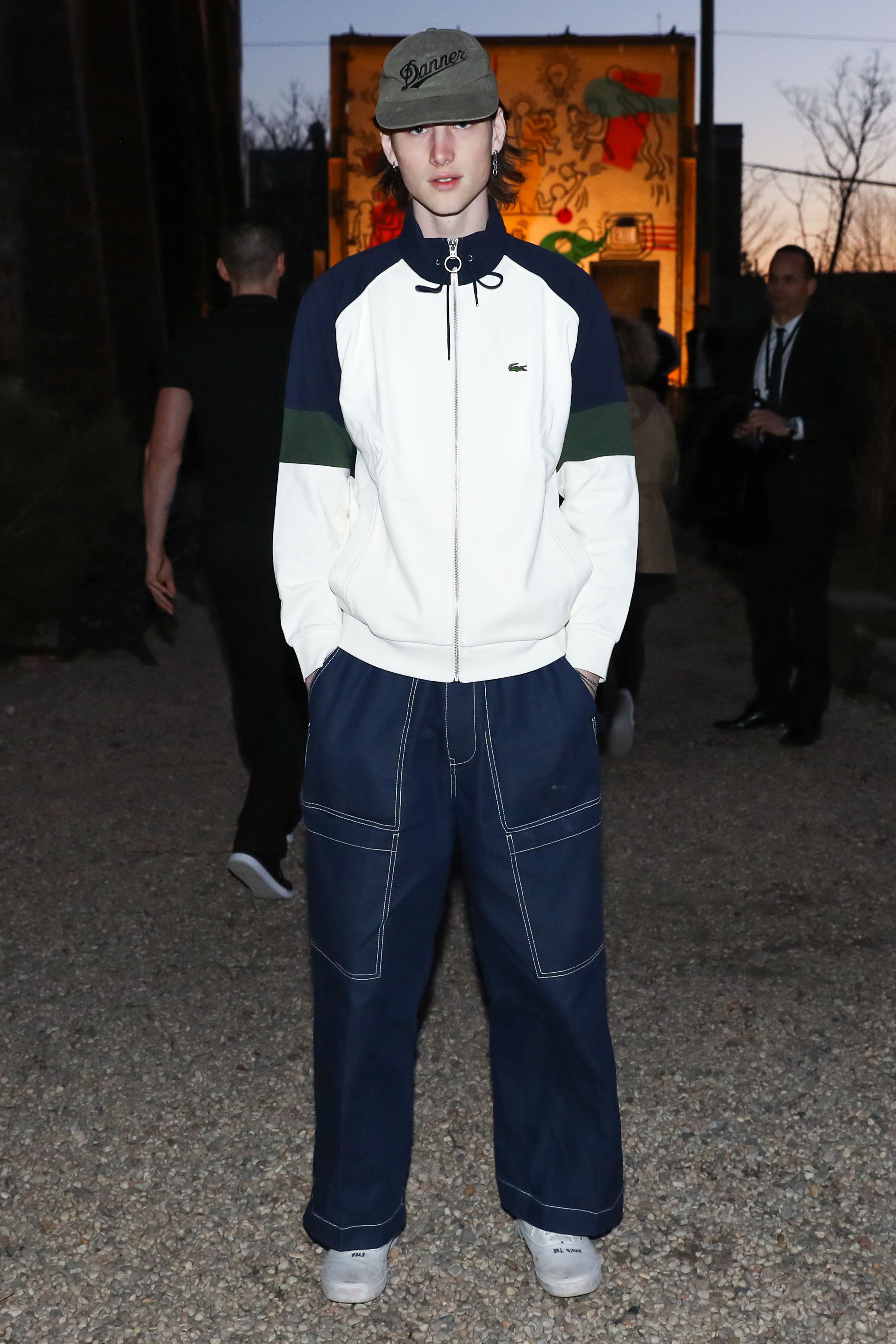 Wellington Grant attends The Lacoste x Keith Haring Global Launch Party at Pioneer Works on Tuesday, March 26th, 2019. Photographed by Neil Rasmus/BFA.