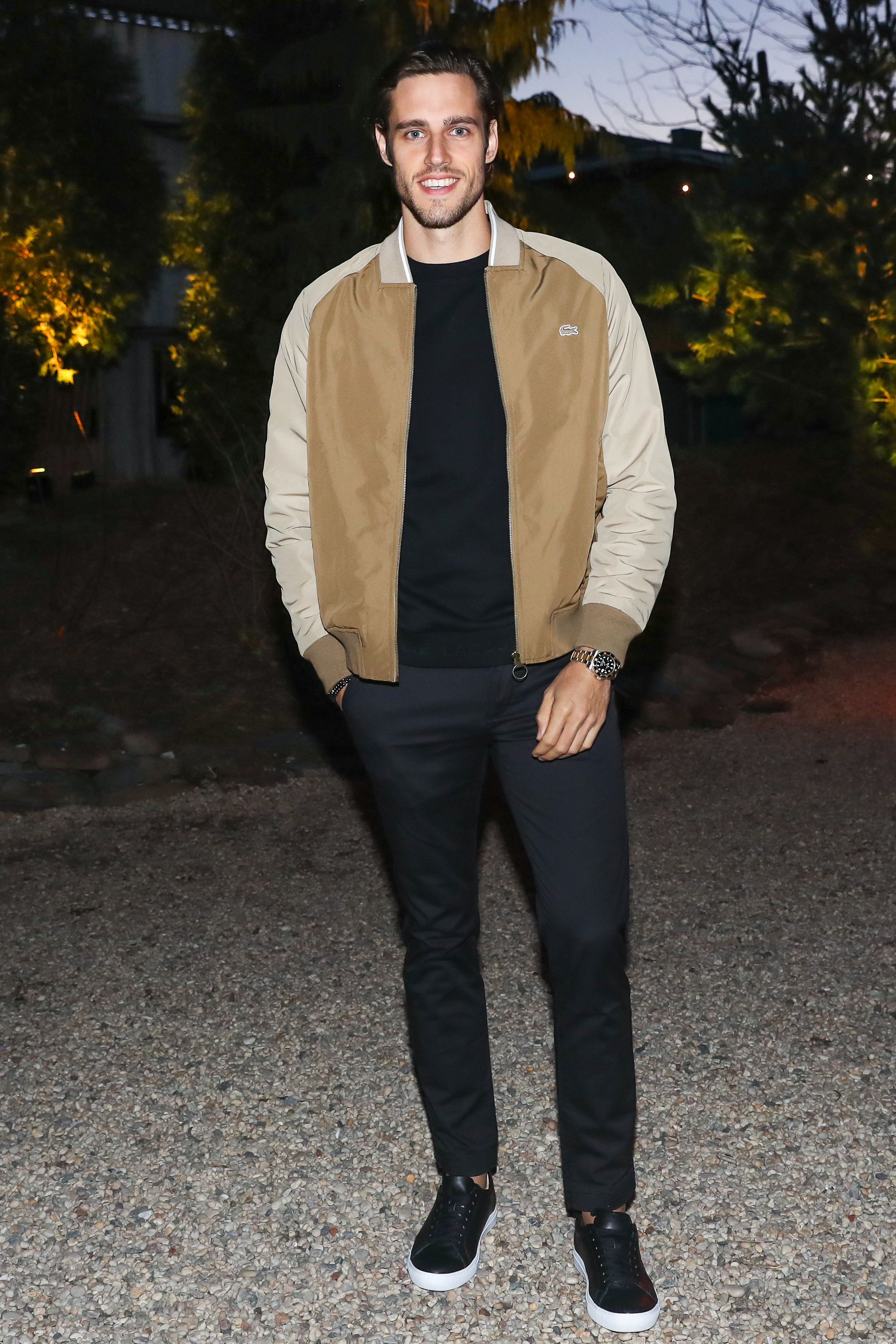 Jordan Stenmark attends The Lacoste x Keith Haring Global Launch Party at Pioneer Works on Tuesday, March 26th, 2019. Photographed by Neil Rasmus/BFA.