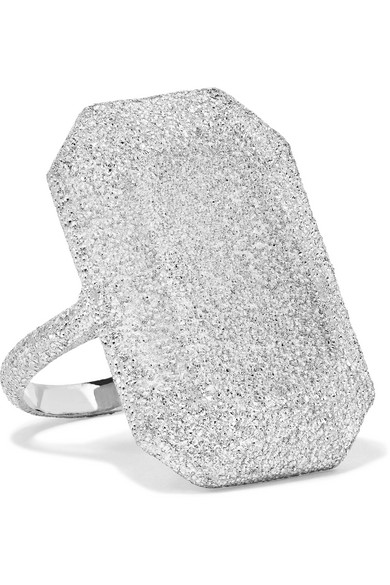 CAROLINA BUCCI   Florentine 18-karat white gold ring  $4,680