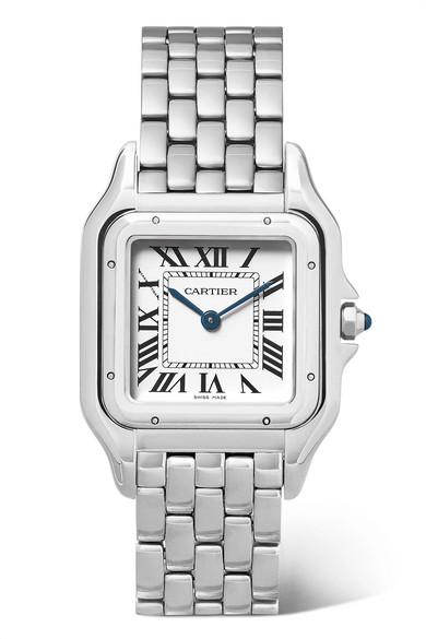CARTIER   Panthère de Cartier 27mm medium stainless steel watch  $4,600