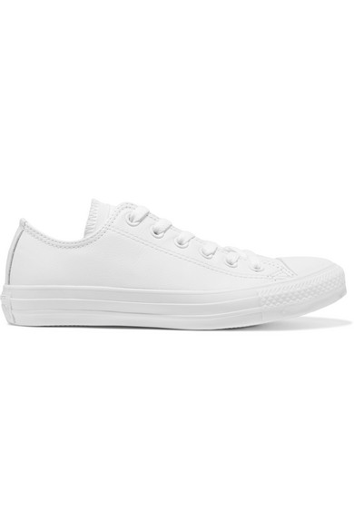CONVERSE   Chuck Taylor All Star textured-leather sneakers  $60