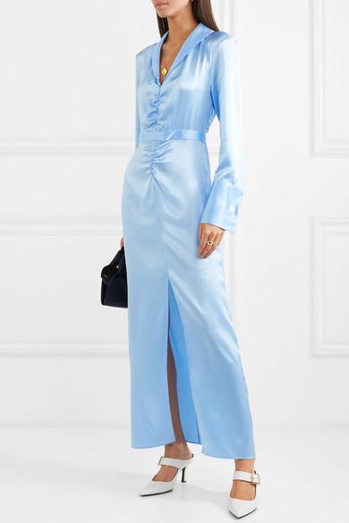 ARIAS   Ruched silk-charmeuse maxi dress  $1,095