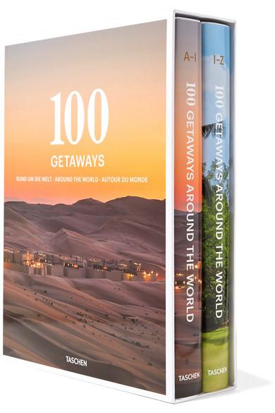 TASCHEN   Set of two hardcover books: 100 Getaways Around the World  $60
