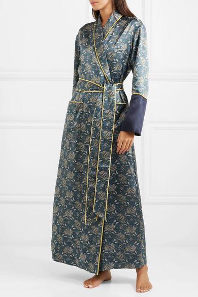 OLIVIA VON HALLE   Bettina printed silk-satin robe  $910
