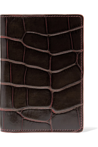 THE CASE FACTORY   Croc-effect leather passport cover  $160