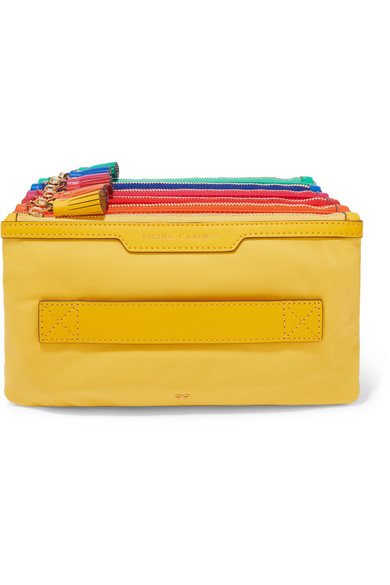 ANYA HINDMARCH   Filing Cabinet leather-trimmed shell pouch  $450