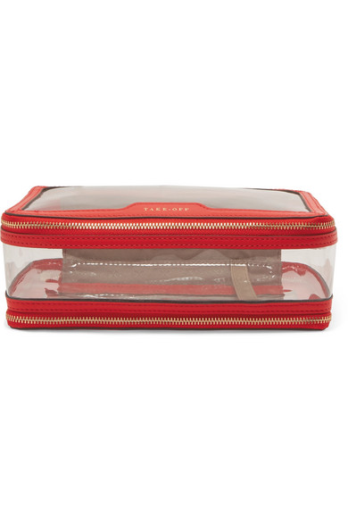 ANYA HINDMARCH   In-Flight leather-trimmed Perspex cosmetics case  $295