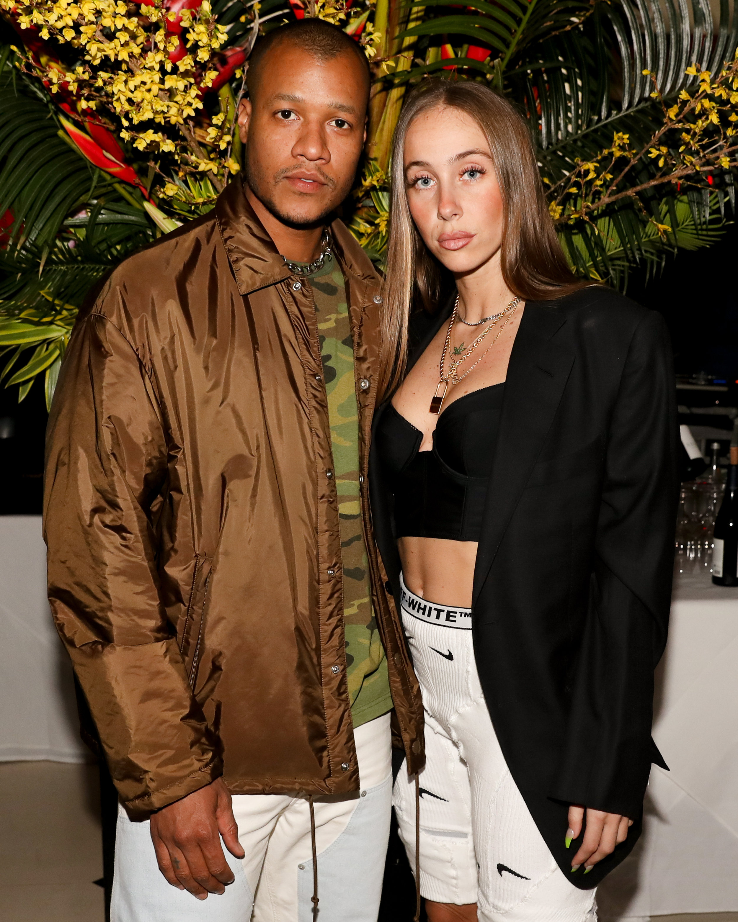 From Left To Right: Heron Preston and Sabrina Albarello attend The Opening of The Dr. Barbara Sturm Zero Bond Boutique & Spa on Thursday, May 2, 2019. Photographed by Neil Rasmus/BFA.