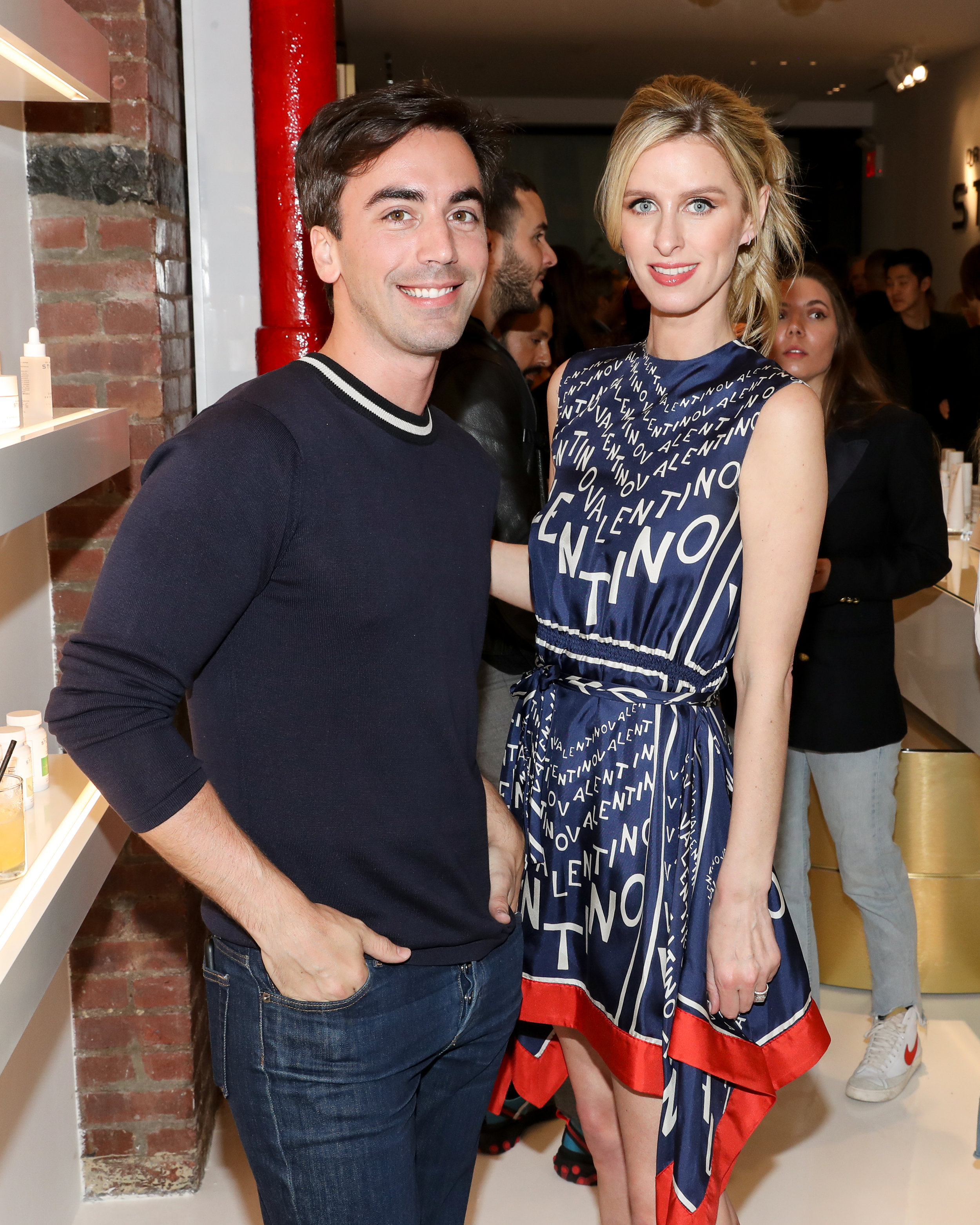 From Left To Right: Fernando Garcia and Nicky Hilton attend The Opening of The Dr. Barbara Sturm Zero Bond Boutique & Spa on Thursday, May 2, 2019. Photographed by Neil Rasmus/BFA.