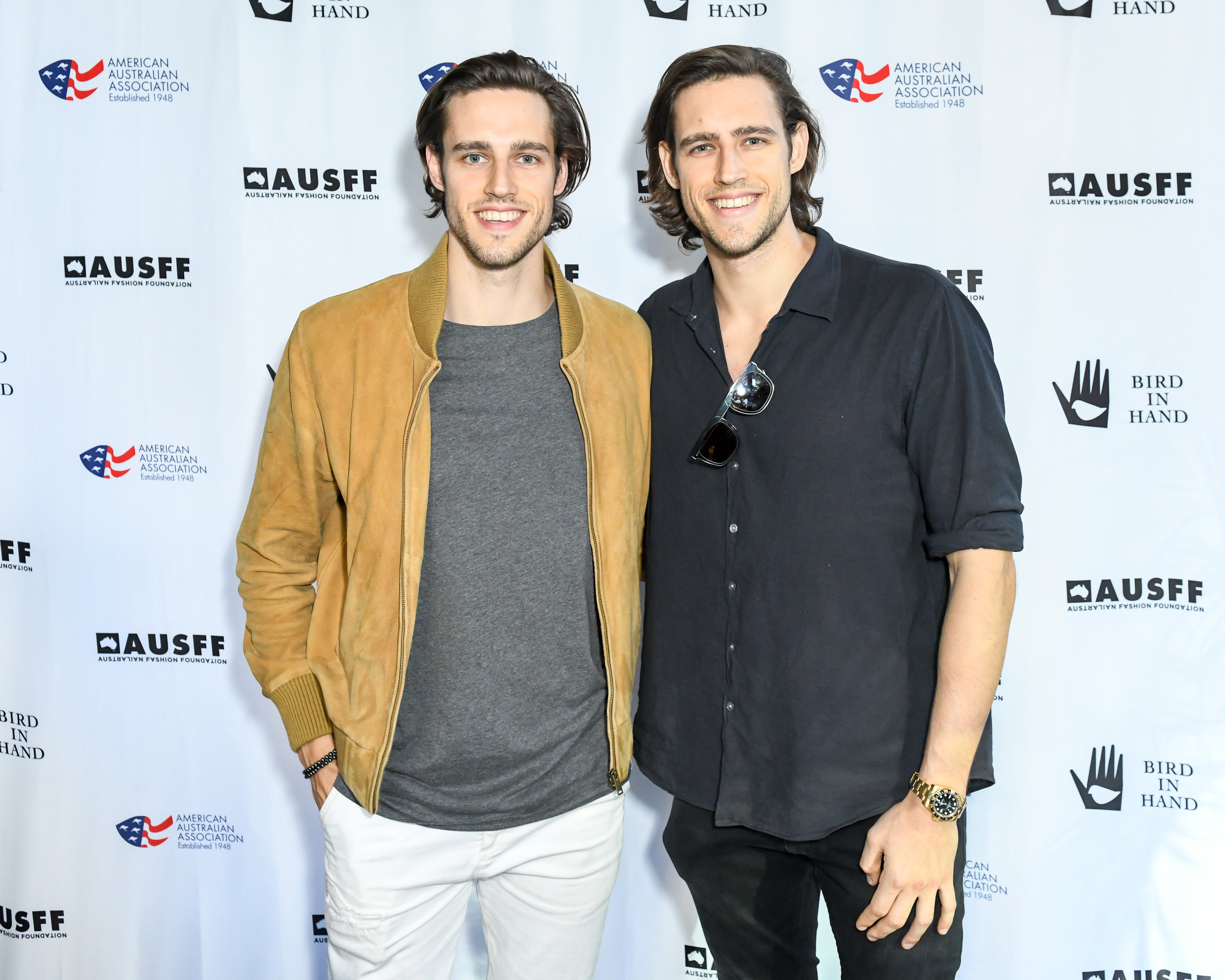 Jordan Stenmark, Zac Stenmark at the Australian Fashion Foundation Summer Party. Image by Joe Schildhorn/BFA