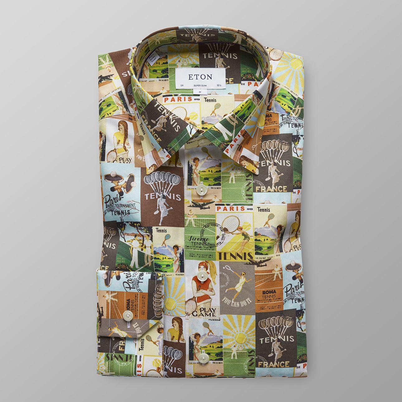 ETON   Tennis Print Multicolored Shirt  $290