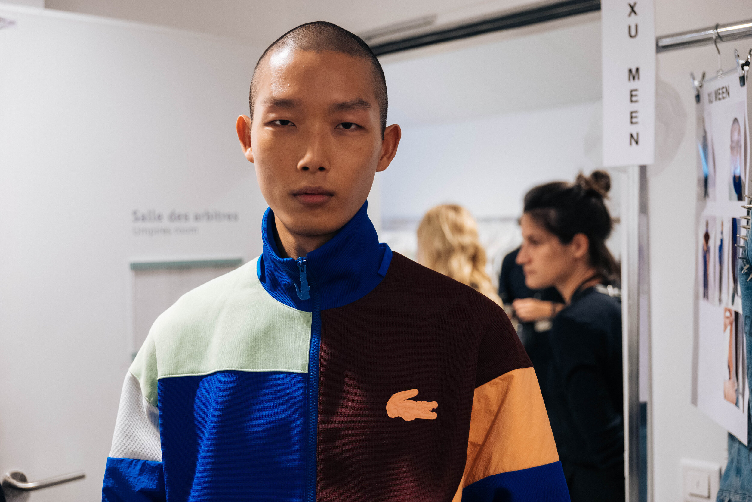 Backstage at the Lacoste SS20 show during Paris Fashion Week on Tuesday, October 1st, 2019. Photograph, Alexandre Farachi for Lacoste.