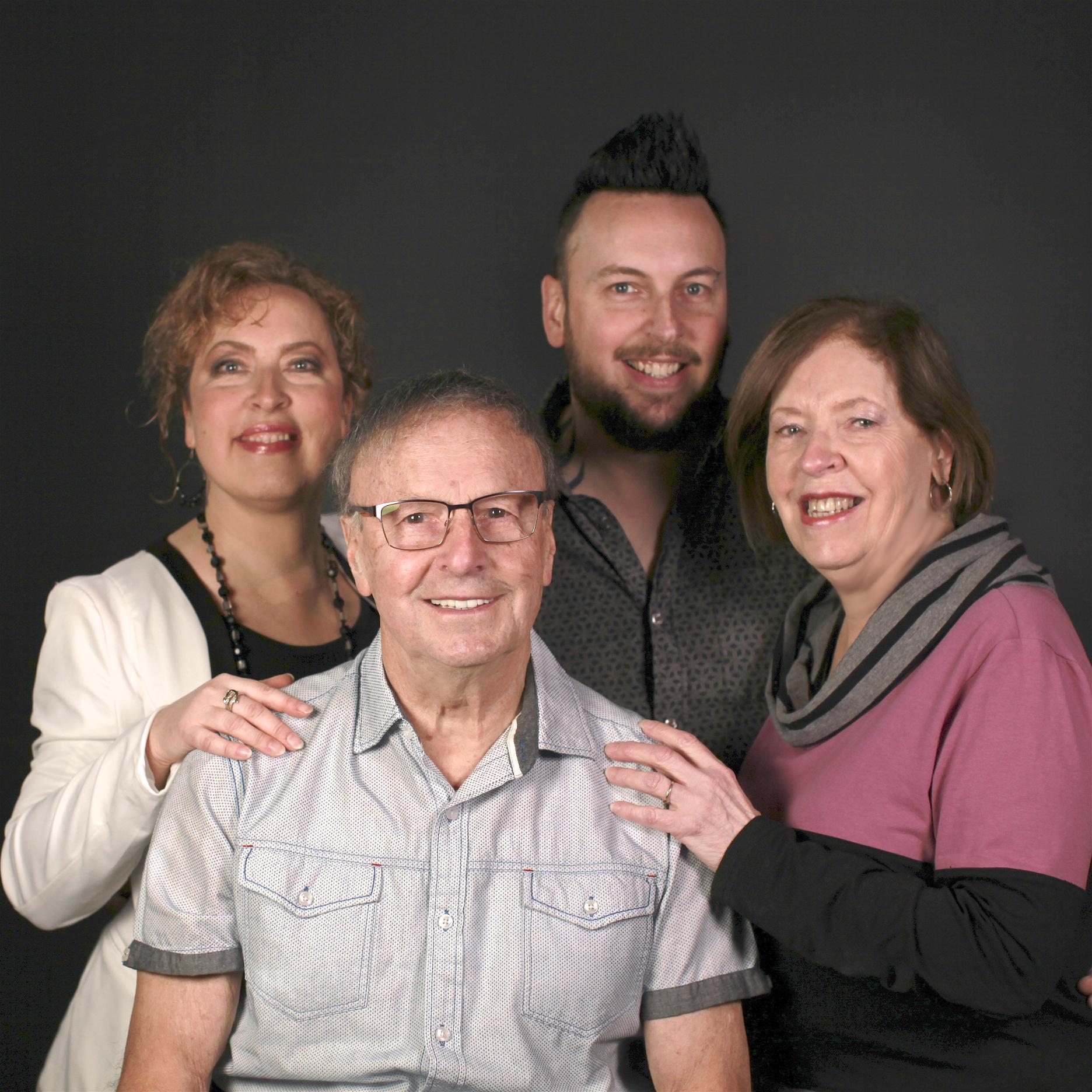 De gauche à droite: Claudine Bergeron, Jacques Bergeron, Yannick Bergeron et Liette Bergeron.