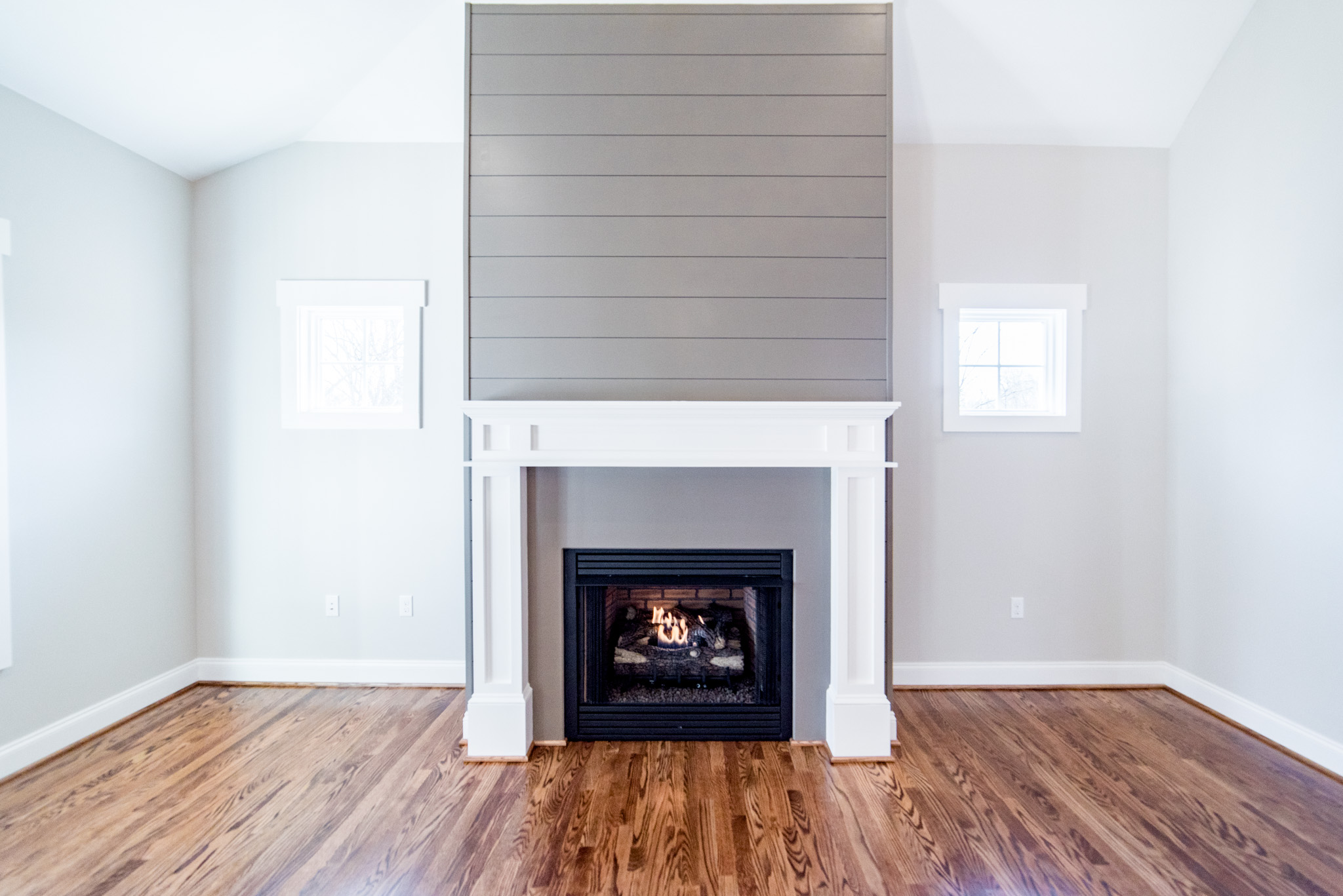 Custom Gas Log Fireplace