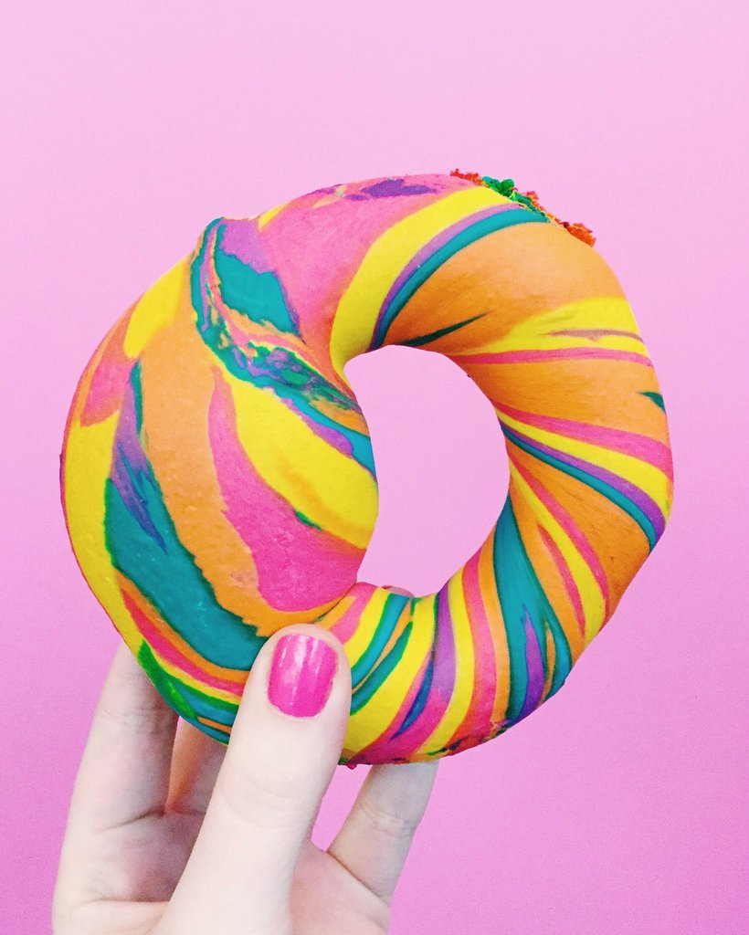 Or even a rainbow bagel??