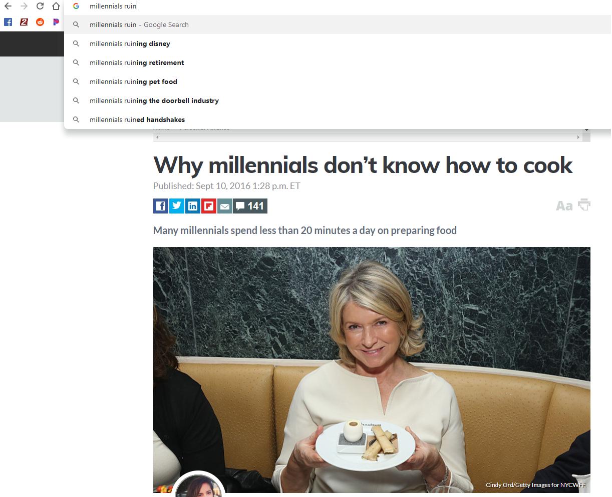Damn lazy millennials!