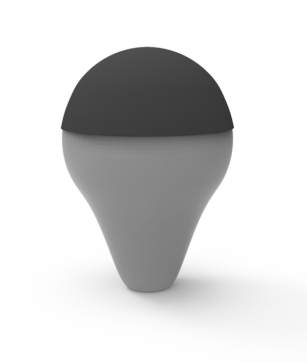 Result:   Projected mesh in black, input mesh in gray.