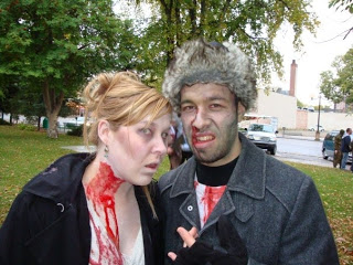 Image courtesy of Gin Fedotov, of 2 Galt Museum volunteers at the Lethbridge Zombie Walk 2009 - Robin Foreman and Gin Fedotov
