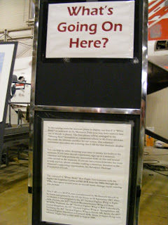 An explanation of the work they are doing on one of the exhibits - very well done and it also mentions the costs both financially and human resource wise of the upkeep, encouraging people gently to donate money or time. Donors were noted in this.