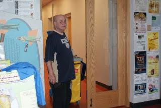 Brian, custodian extraordinaire, getting the Galt ready for its long day (but taking time out to get his picture taken).