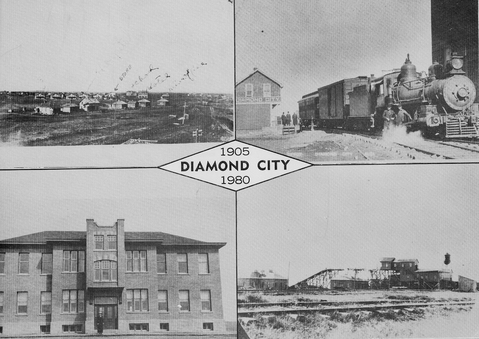 Diamond City, 1905-1980 postcard.    Courtesy the Galt Museum & Archives: 19841061000