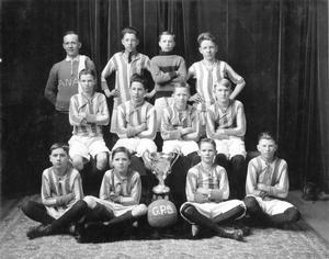 Galbraith School Football Team, 1924. Galt Archives 19754357000