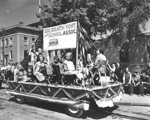 Galbraith Home and School Association in the 1950 Parade. Galt Archives 19752303016